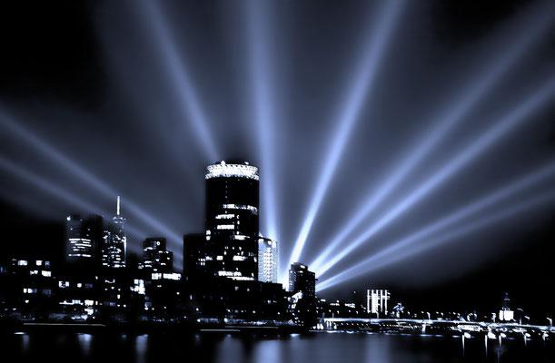 Osthafentower bei der Luminale