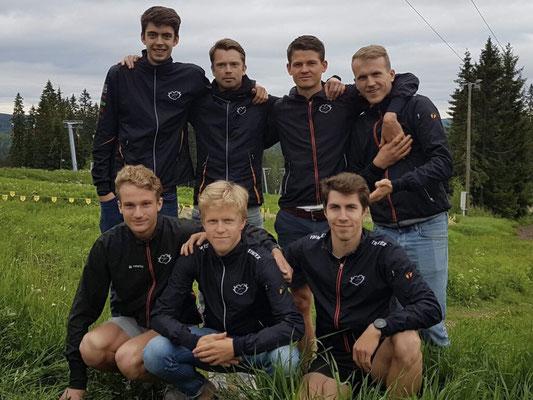 Järla Orientering mit David, Jens, Erik, Simon, Anton und Alain