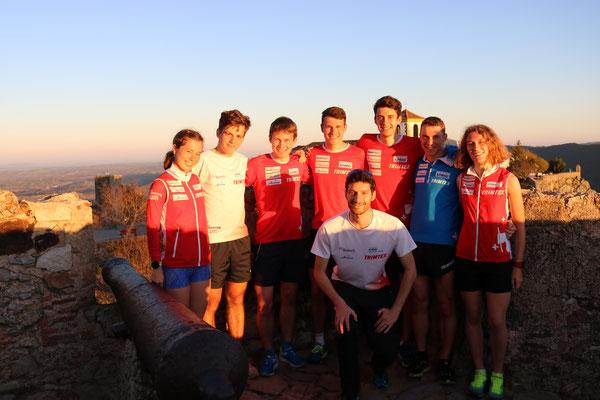 Trainingslager Portugal - die Junioren mit Trainer Jönu