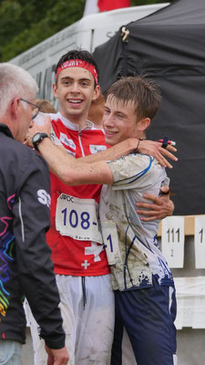 together with Guilhelm Haberkorn happy in the finish