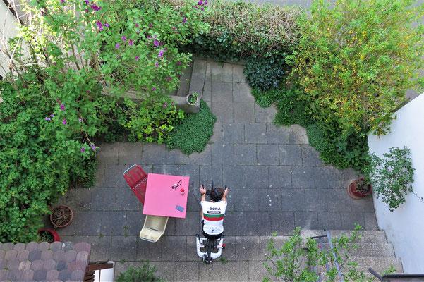 Spinning im Garten