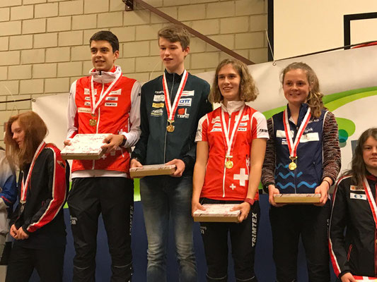 the swiss champions in woman and man 18 and 20