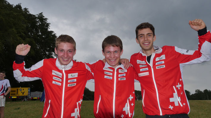 fourth place in the relay together with Reto and Fäbu