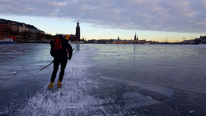 Skating in Stockholm - around the all the tourist spots