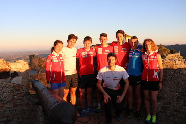 training camp in Portugal - the juniors and the coach Jönu