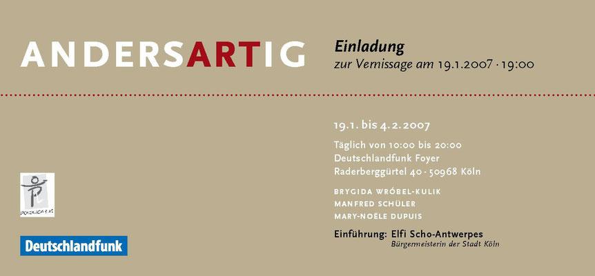 Polonica e.V.  Einladung zur Vernissage AndersArtig 2007