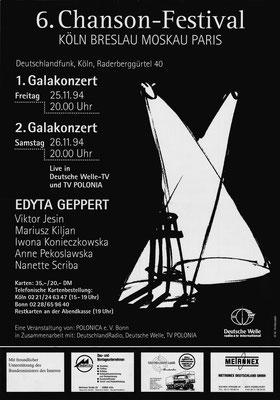 Plakat:  06. Chansonfestival 1994
