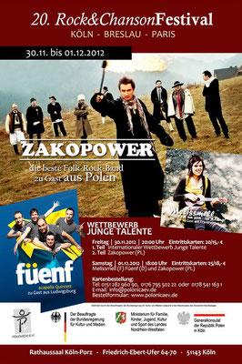 Plakat: 20. Rock & ChansonFestival 2012
