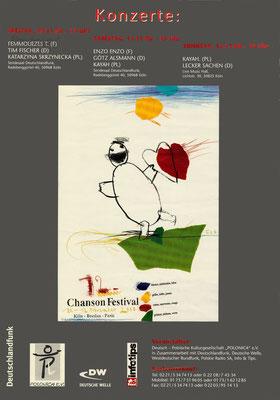 Plakat:  12. Chansonfestival 2000