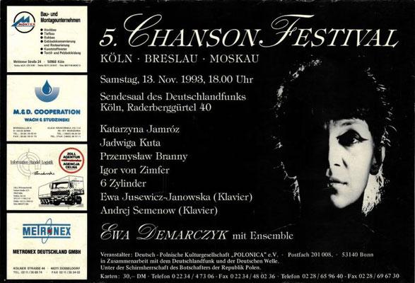 Plakat:  05. Chansonfestival 1993
