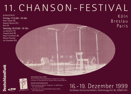 Plakat:  11. Chansonfestival 1999