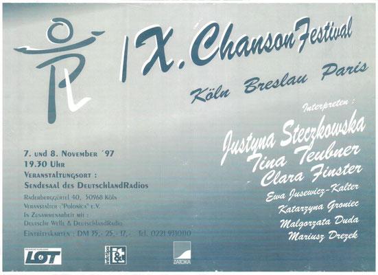 Plakat:  09. Chansonfestival 1997