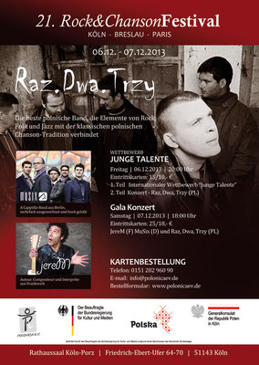 Plakat: 21. Rock & ChansonFestival 2013