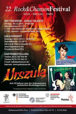 Plakat: 22. Rock & ChansonFestival 2014