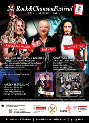Plakat: 24. Rock & ChansonFestival 2016