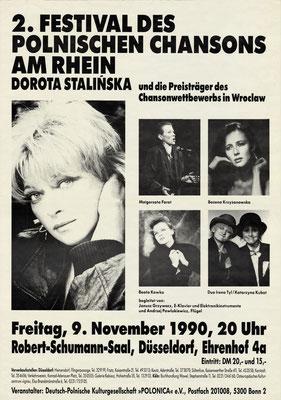 Plakat:  02. Chansonfestival 1990