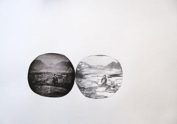 Abbild, Collage, Bleistift auf Papier, 42 x 29,5 cm, 2017
