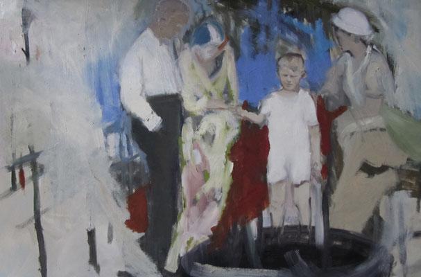 Unsichtbare Hand, Öl auf Leinwand, 80 x 120 cm, 2017