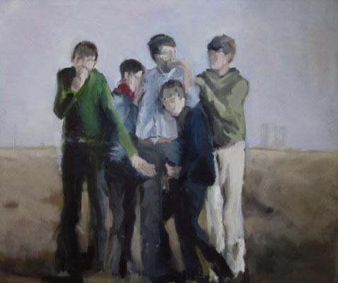 Spielraum, Öl auf LW, 2017, 120 x 100 cm