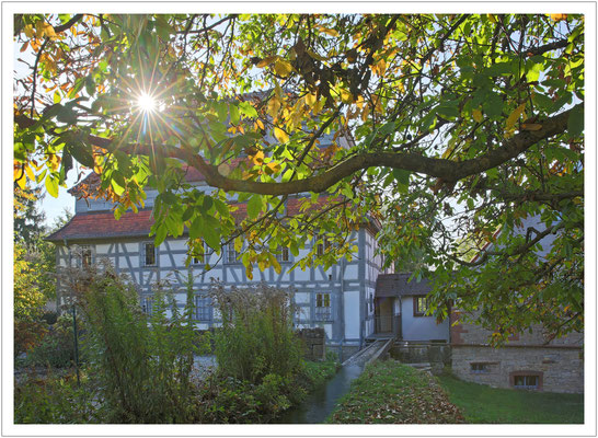 Lichtspielerei im Mühlengarten der Papiermühle Homburg