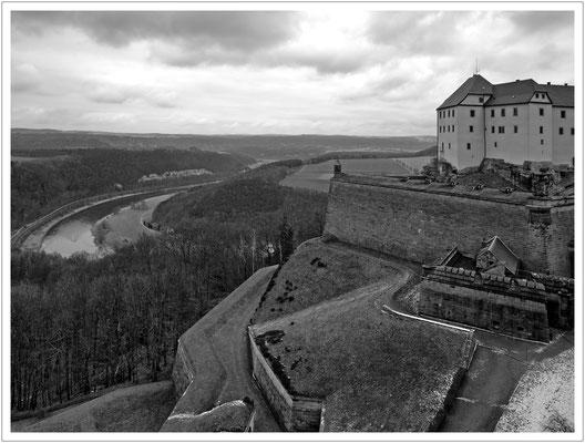 Da thront Sachsens bekannte Festung