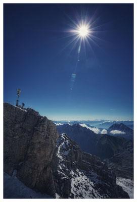 Die Sonne lacht über Deutschlands höchsten Berg...