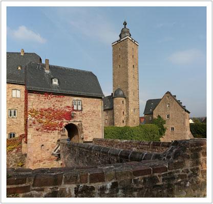 Schloss Stein im hessischen Teil des Spessart...
