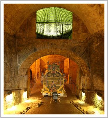 Zugang zum Fasskeller der Festung Königstein (2016)