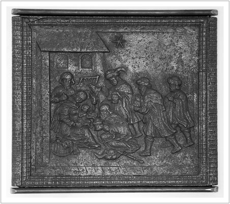 Ofenplatte mit den Heiligen drei Königen aus der Gießhütte Bahra (um 1650/1674)