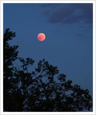 Der Mond in seiner roten Phase