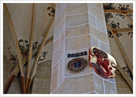 altes Stadtwappen in der Marienkirche