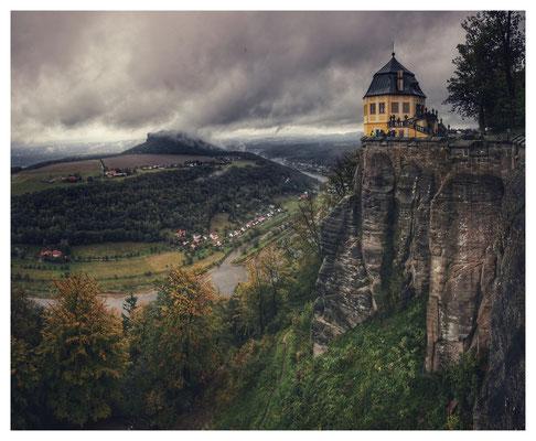 Die graue Seite des Herbstes - gesehen auf der Festung Königstein