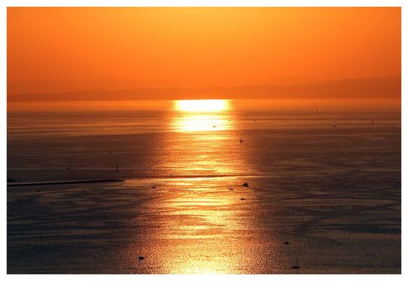 sunset über dem See...