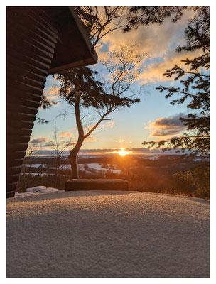 zum Sonnenuntergang auf dem Augustusberg