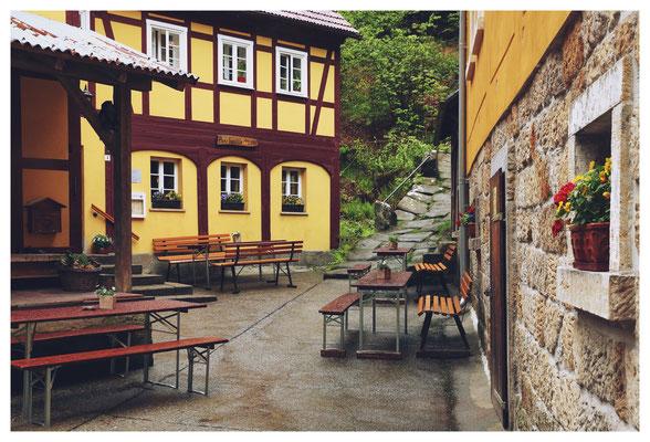 die Buschmühle im Kirnitzschtal...