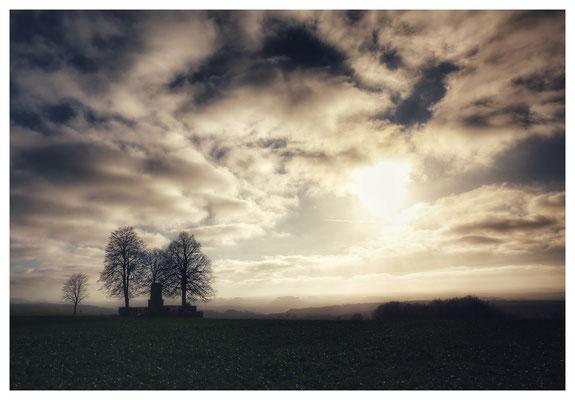 Das neue Jahr startete fototechnisch am Hohburkersdorfer Rundblick...