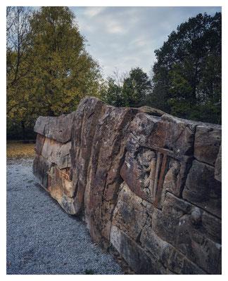 Bergbaudenkmal in Stolzenbach, hier starben 1988 beim letzte großen deutschen Grubenunglück 51 Kumpel nach einer Kohlenstaubexplosion...