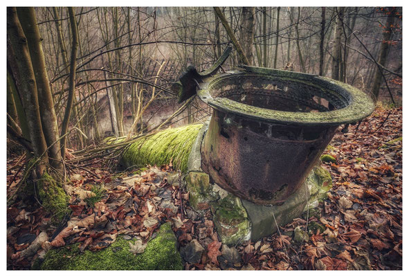 alte Holzschleiferei in der Sächsischen Schweiz