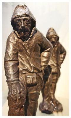 auch die sind einzigartig - die ältesten erhaltenen gusseisernen Figuren aus Sachsen (um 1645)