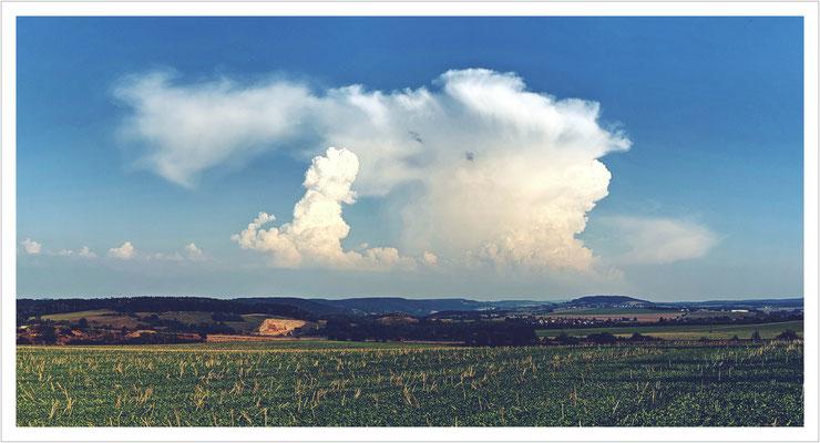 Wolkenformation über Pirna