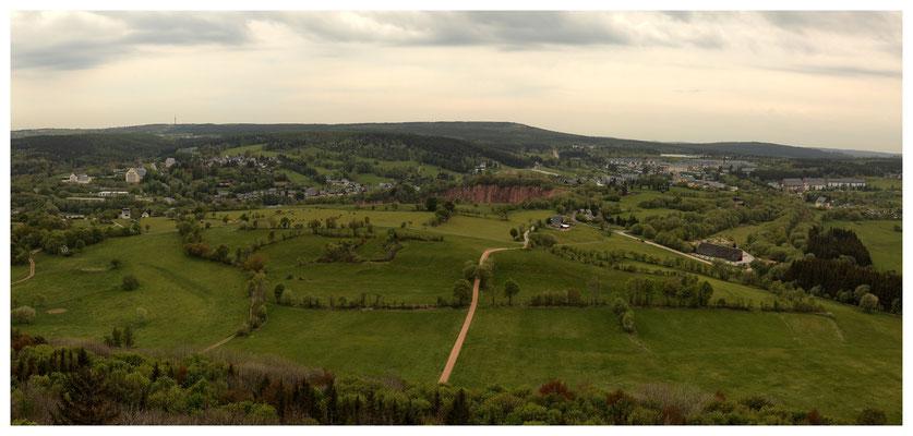 oben: Aussicht vom Geisingberg