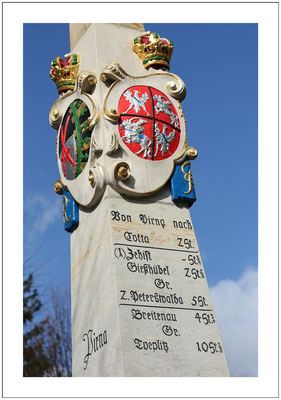 Postmeilensäule in Pirna