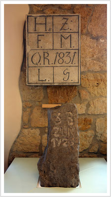 Quartalstafel und Lochstein als alten Zeiten