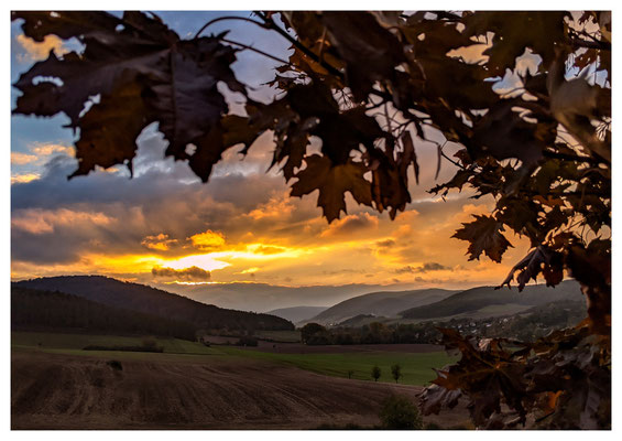 Sonnenuntergang im Wesebachtal