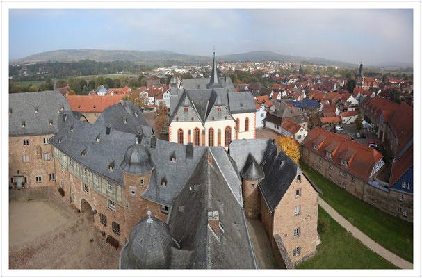 ...und Ausblick vom alten Bergfried.