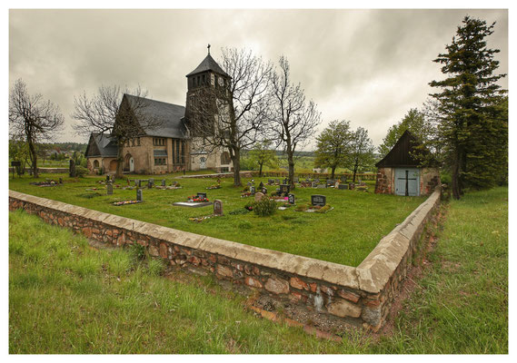 die Exulantenkirche von Zinnwald