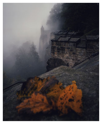 trübes Wetter auf der Festung Königstein