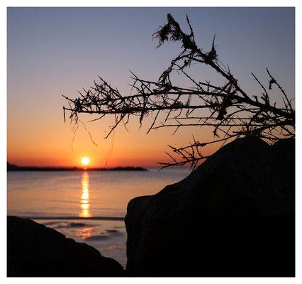 Sonnenuntergänge am Ostseestrand...