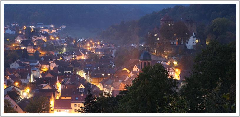 abendlicher Blick auf Rieneck
