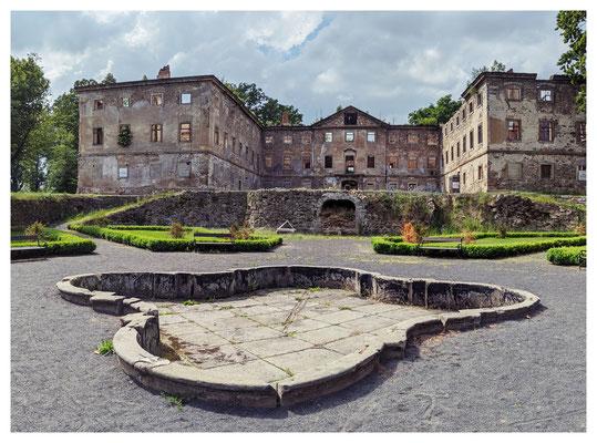 ...des um 1740 von Grafen Leopold von Salm erbauten Anwesens.